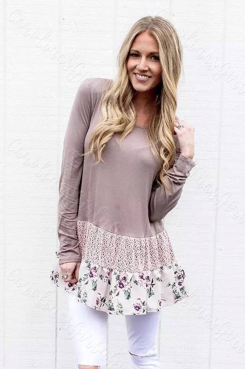 Floral Bottom Tunic INCLUDES SHIPPING!