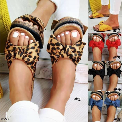 Sophie Bow Flatform Sliders INCLUDES SHIPPING!