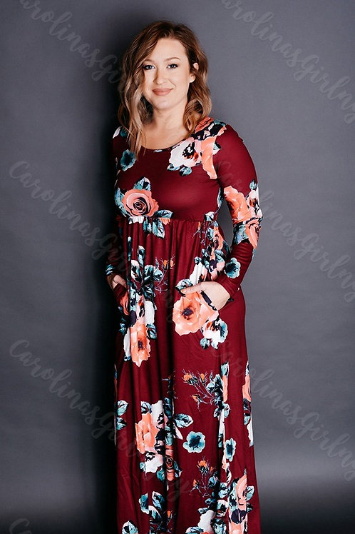 Floral Harvest Maxi Dress INCLUDES SHIPPING!