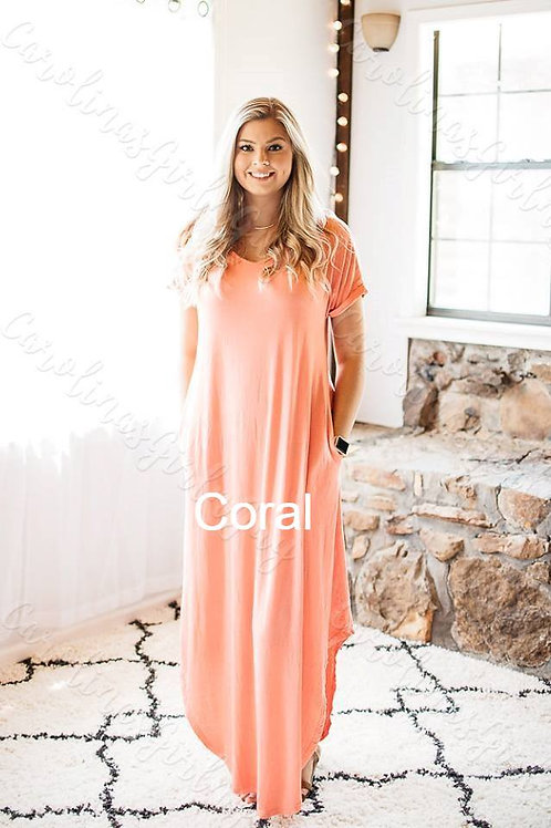 Cross Back Solid Maxi Dress INCLUDES SHIPPING!