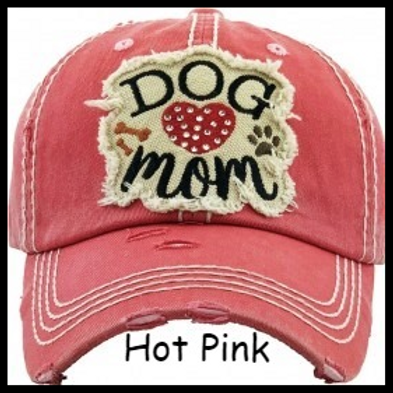 Dog Mom Distressed Baseball Cap INCLUDES SHIPPING!