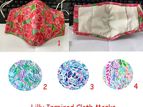 Lilly Inspired Masks INCLUDES SHIPPING!
