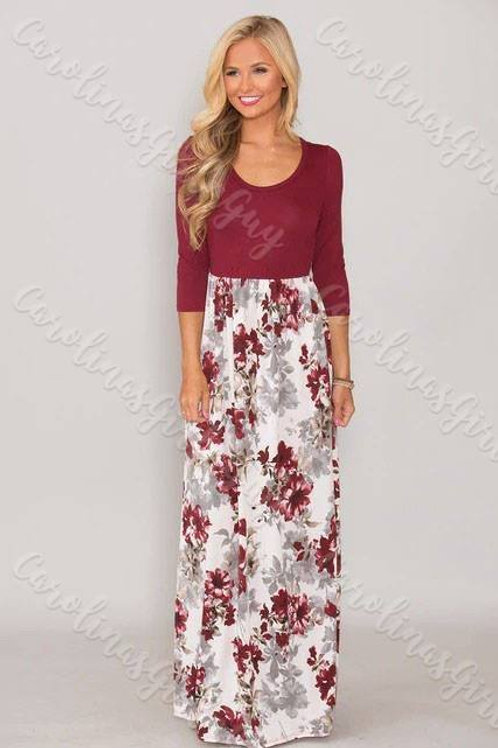 Floral Maxi Dress INCLUDES SHIPPING!
