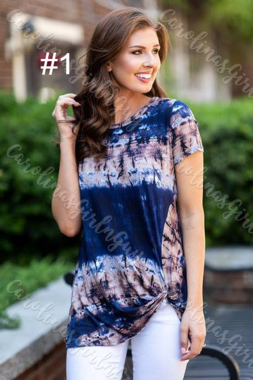 Tie Dye Faux Knot Top INCLUDES SHIPPING!