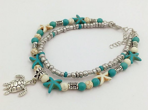 Bohemian Sea Turtle Anklet INCLUDES SHIPPING!