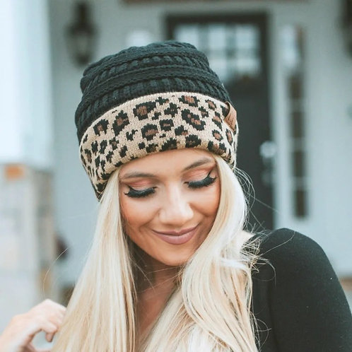 CC Leopard Beanie INCLUDES SHIPPING!