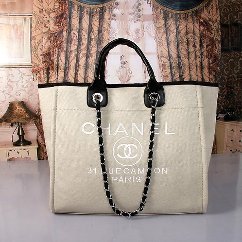 CoCo Chanel Large Canvas Tote INCLUDES SHIPPING!