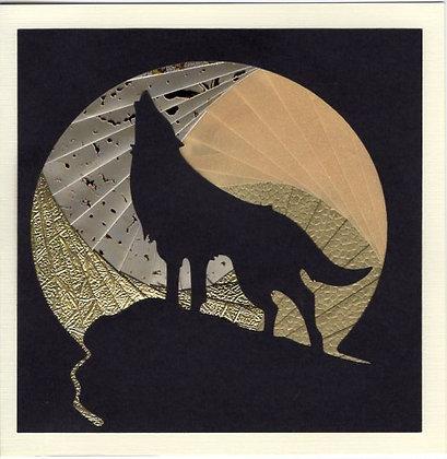 Wolf & Moon Gold