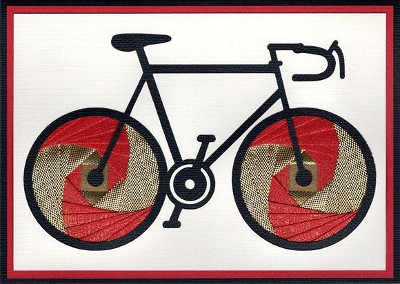 Bicycle in Iris Folding