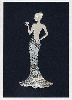 Olivia gold & silver on midnight blue099