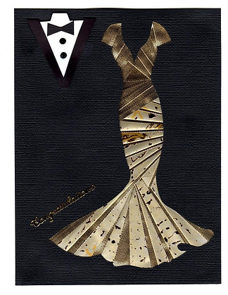 Wedding Larissa & Groom Iris Folding in Gold