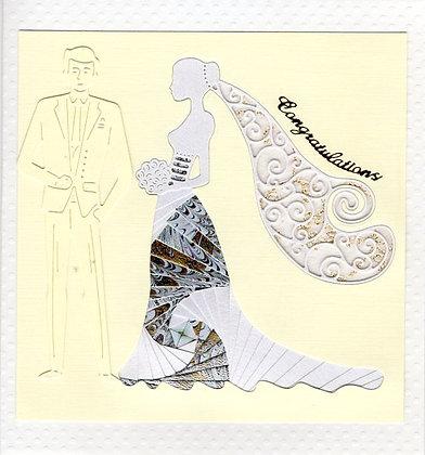 Wedding Veiled Bride & Groom
