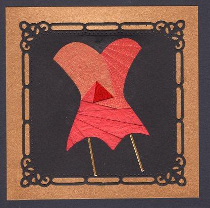 Iris Folded Corset in Red