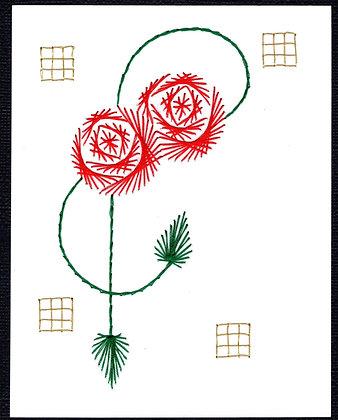 Art Deco Celtic Double Loop Rose