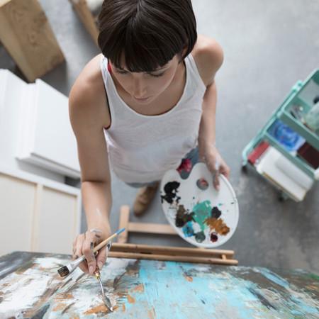 Pintura mujer