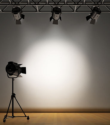 A vintage theater spotlight on a white background.jpg