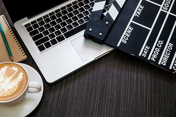 office stuff with Movie clapper laptop a