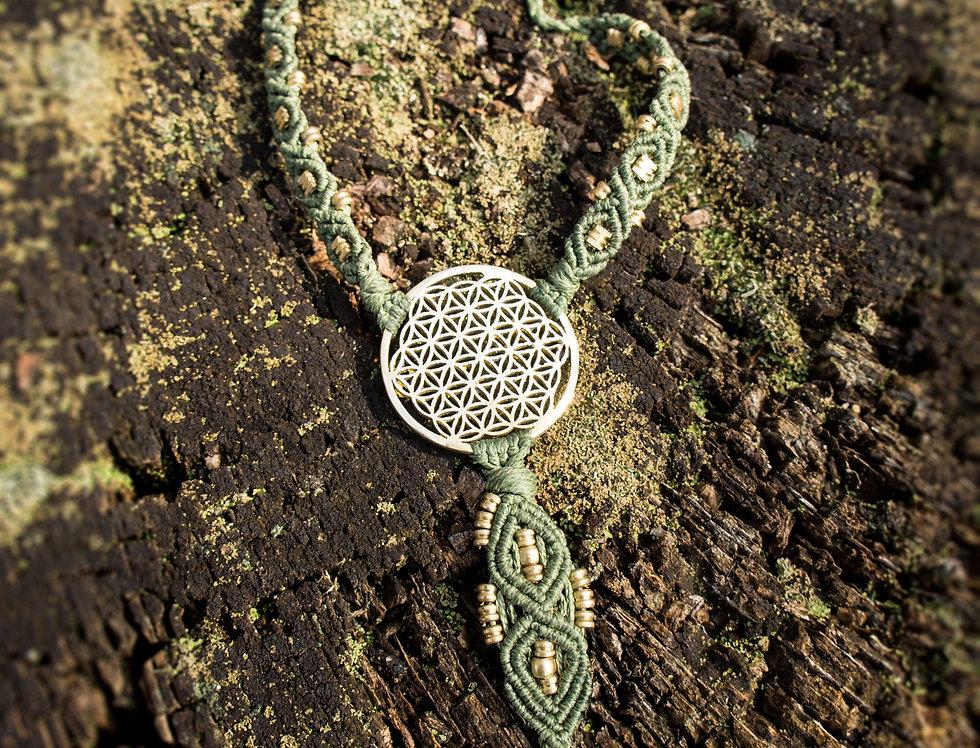 Earthing Flower of Life  Olive (Single)