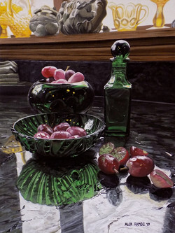 Green Glass and Red Grapes