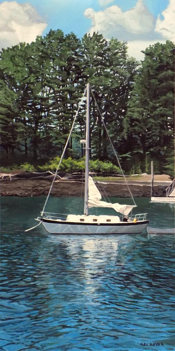 sailboat at the isle of springs