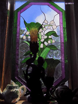 Stained Glass Lily of the Valley