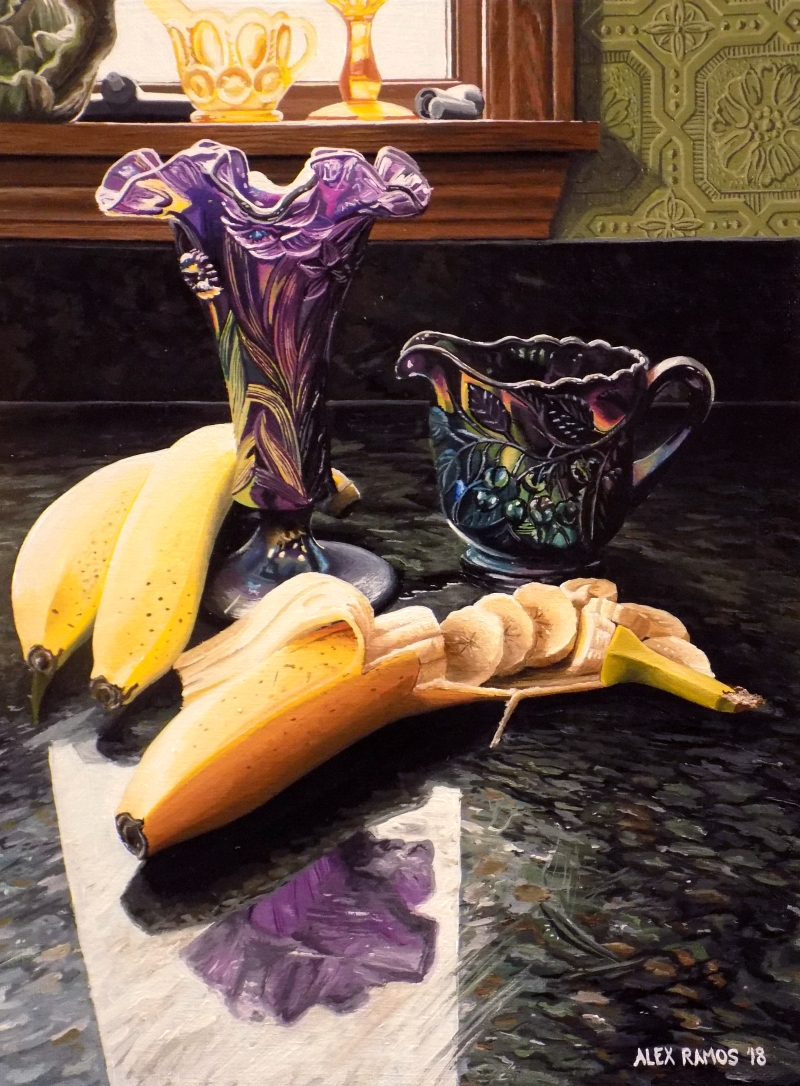 Bananas and Iridescent Glass