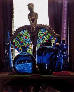 Dancer and Blue Bottles