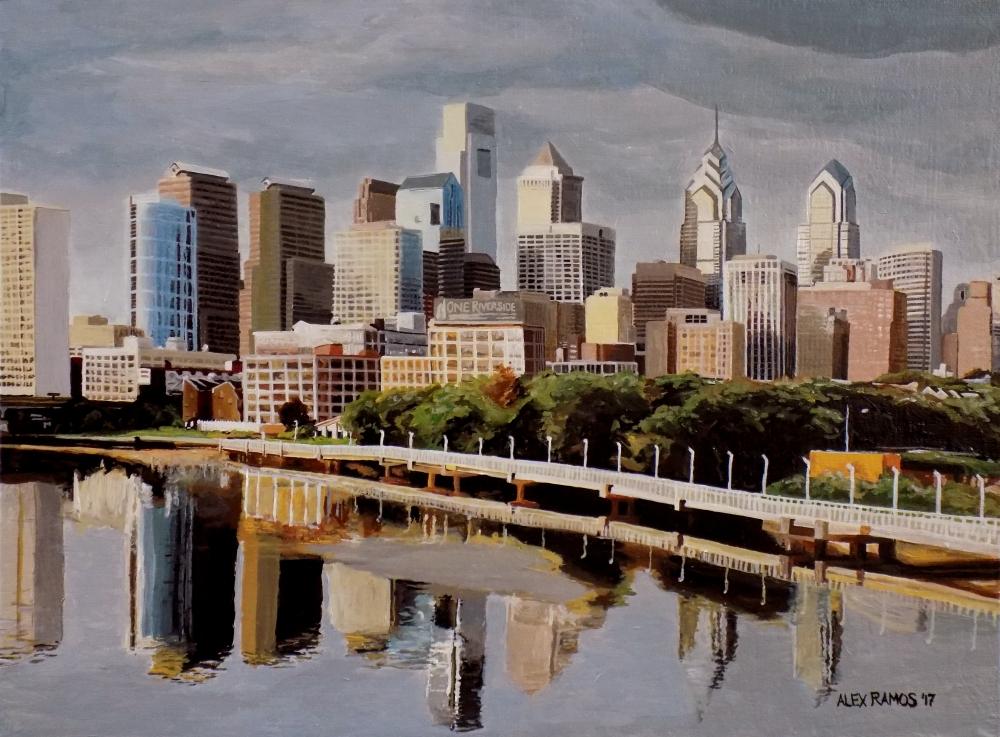 Philadelphia Skyline from South Street Bridge