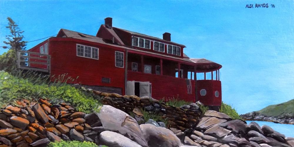 Red Cottage on Monhegan Island