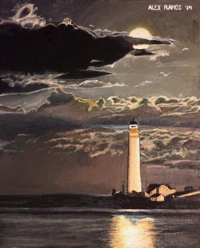 Moonlit Lighthouse