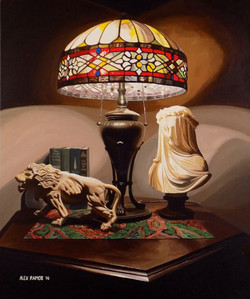 Lamp and Statuettes