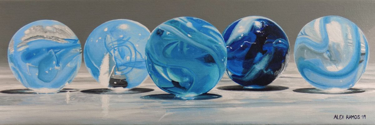 Blue Marbles #1