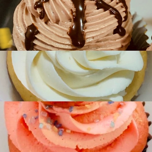 (12) ASSORTED CUPCAKES