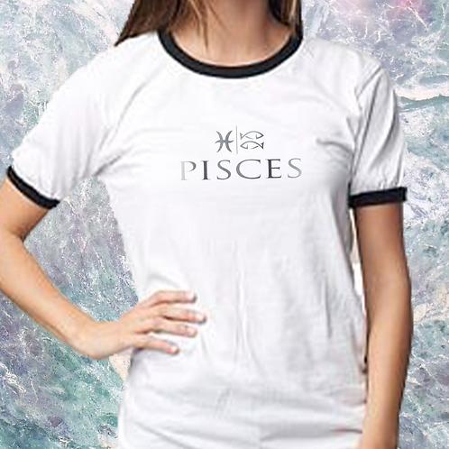 Pisces -- Ladies Ringer Short