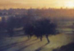 Simon Hatchard Parr - Primrose Hill painting