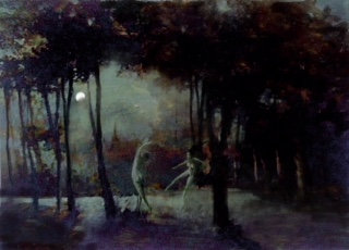 Midnight under Constable's Firs