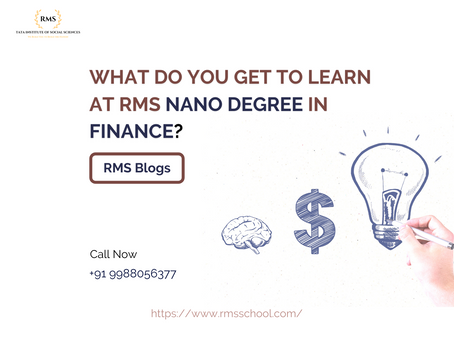 What do you get to learn at RMS Nano Degree in Finance?