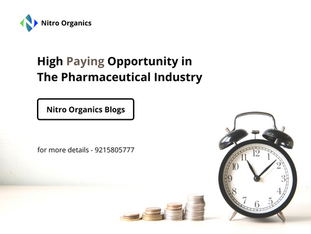 High Paying Opportunity in The Pharmaceutical industry