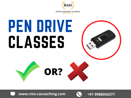 Pen Drive classes or Satellite classes- a hit or flop show for CA foundation preparation?
