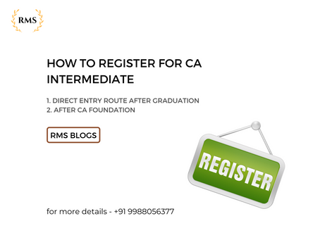HOW TO REGISTER FOR CA INTERMEDIATE