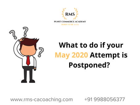 What to do if your May 2020 Attempt is Postponed?