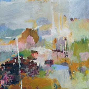 Cristina Metelli Distant Landscape_2020_oil on canvas_120x120cm