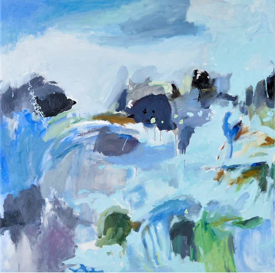 Currents 1, oil on canvas, 97x97cm