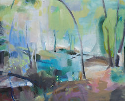 The Shaded Path By The Creek_oil on canvas_105x130cm_Nov2020