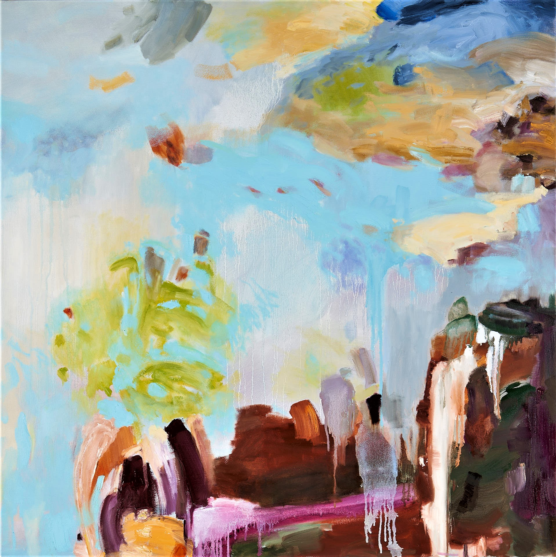 Beyond the Ridge 100x100cm