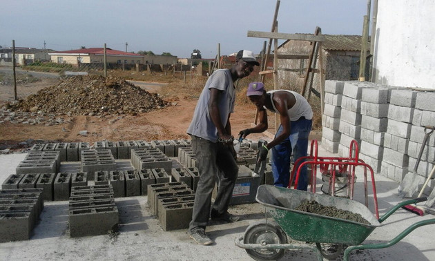 Making bricks for the community