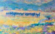 Dusk Illuminated 30 x 48 Oil on canvas.