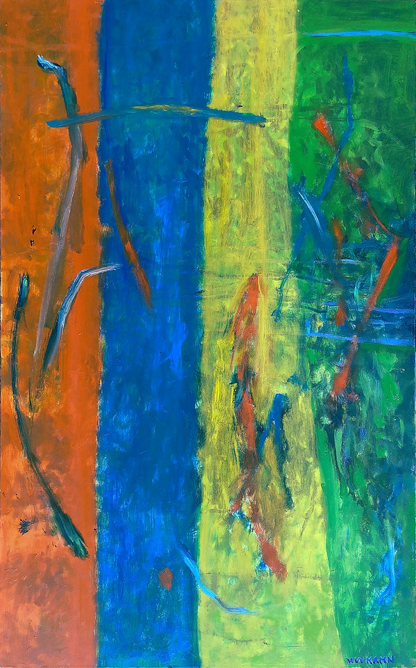 Channels 30 x 48.jpg. Life flow through strong color