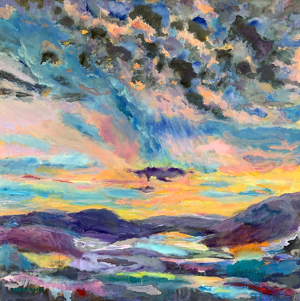 Marion Kahn_Yampa Valley Sunset IX_oil o