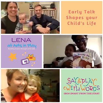LENA at Arts in Play Celebration Collage